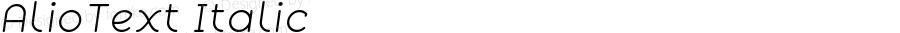 AlioText Italic Version 1.002
