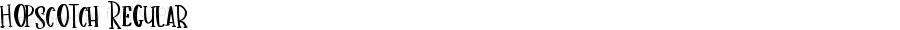 Hopscotch Regular Version 1.00 July 17, 2018, initial release