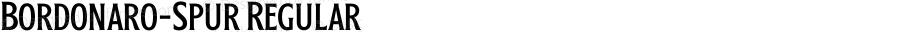Bordonaro-Spur Regular Version 1.00;July 21, 2018;FontCreator 11.5.0.2427 64-bit