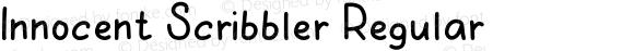 Innocent Scribbler Regular Version 1.002;Fontself Maker 2.3.5
