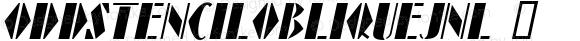 OddStencilObliqueJNL ☞ Version 1.000 - 2018 initial release;com.myfonts.easy.jnlevine.odd-stencil.oblique.wfkit2.version.52ag