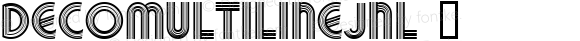 DecoMultilineJNL ☞ Version 1.000 - 2018 initial release;com.myfonts.easy.jnlevine.deco-multiline.regular.wfkit2.version.523w