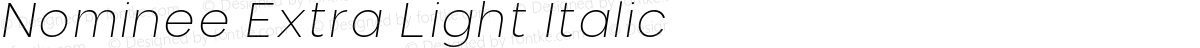 Nominee Extra Light Italic