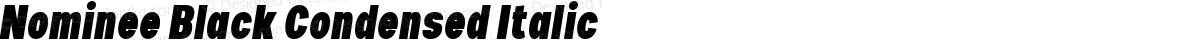 Nominee Black Condensed Italic