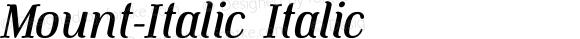 Mount-Italic Italic