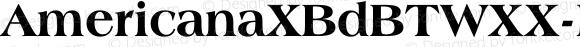 AmericanaXBdBTWXX-ExtraBold Regular Version 1.10;August 12, 2018;FontCreator 11.5.0.2427 64-bit