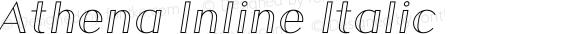 Athena Inline Italic