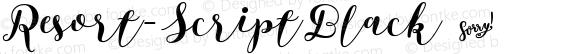 Resort-ScriptBlack