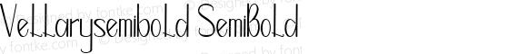 Vellarysemibold SemiBold Version 1.000