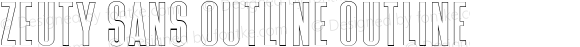 Zeuty Sans Outline Outline