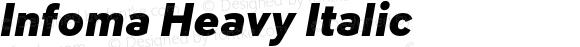 Infoma Heavy Italic