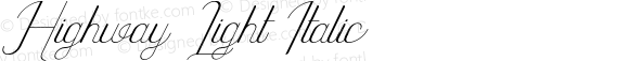 Highway Light Italic
