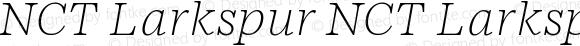 NCT Larkspur NCT Larkspur Italic Thin