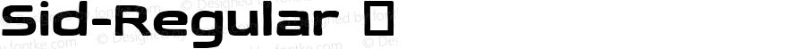 Sid-Regular ☞ Version 1.000;com.myfonts.easy.haiku.sid.regular.wfkit2.version.5bpg