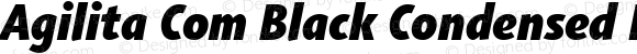 Agilita Com Black Condensed Italic