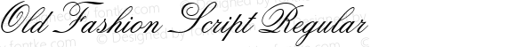 Old Fashion Script Regular Version 1.00