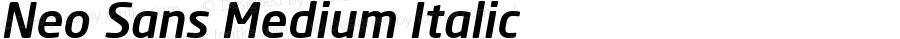 Neo Sans Medium Italic