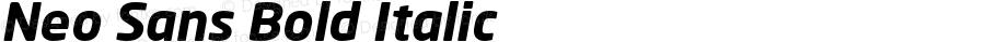 Neo Sans Bold Italic