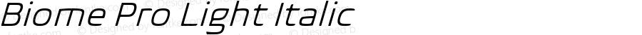 BiomePro-LightItalic