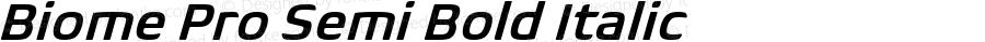 BiomePro-SemiBoldIt