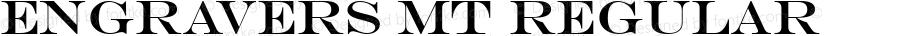 Engravers MT Regular Version 2.00 - May 16, 1996