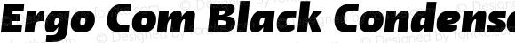 Ergo Com Black Condensed Italic