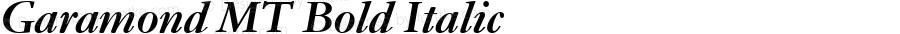 Garamond MT Bold Italic Version 2.00