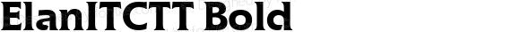 ElanITCTT Bold Version 1.00