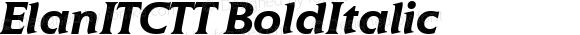 ElanITCTT BoldItalic Version 1.00