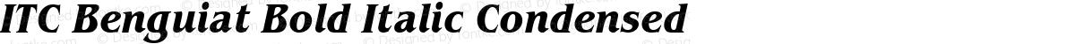 ITC Benguiat Bold Italic Condensed