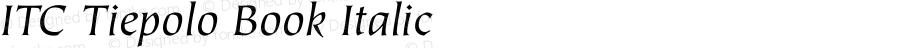 ITC Tiepolo Book Italic Version 1.00