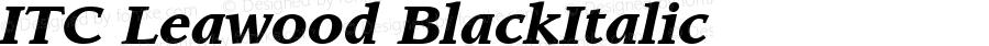 ITC Leawood BlackItalic Version 2.00