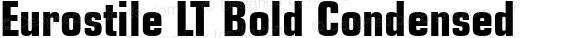 Eurostile LT Bold Condensed