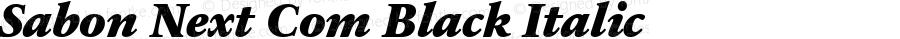 Sabon Next Com Black Italic Version 1.01