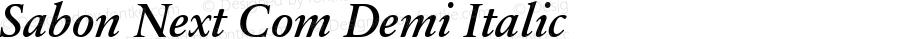 Sabon Next Com Demi Italic Version 1.01