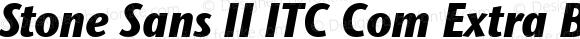 Stone Sans II ITC Com Extra Bold Condensed Italic