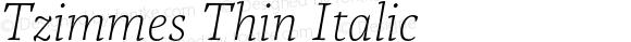 Tzimmes Thin Italic