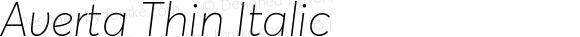 Averta Thin Italic