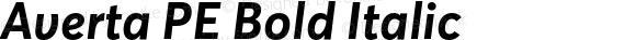 Averta PE Bold Italic