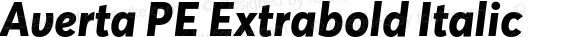 Averta PE Extrabold Italic