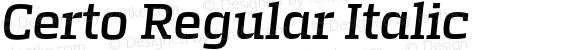 Certo Regular Italic