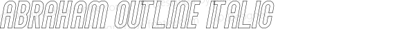 Abraham Outline Italic