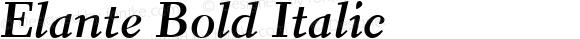 Elante Bold Italic Version 1.0