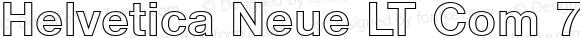 Helvetica Neue LT Com 75 Bold Outline