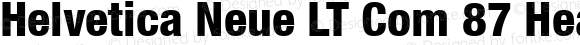 Helvetica Neue LT Com 87 Heavy Condensed