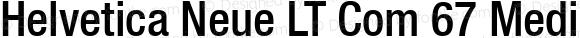 Helvetica Neue LT Com 67 Medium Condensed