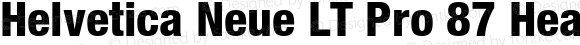 Helvetica Neue LT Pro 87 Heavy Condensed