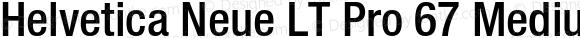 Helvetica Neue LT Pro 67 Medium Condensed