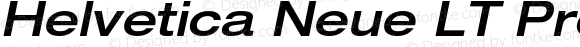 Helvetica Neue LT Pro 63 Medium Extended Oblique
