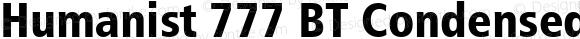 Humanist 777 BT Condensed Black